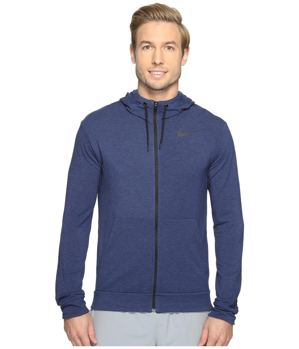 Nike - Dri-FITtm Fleece Full-Zip Training Hoodie (Binary Blue/Black) Men's Sweatshirt