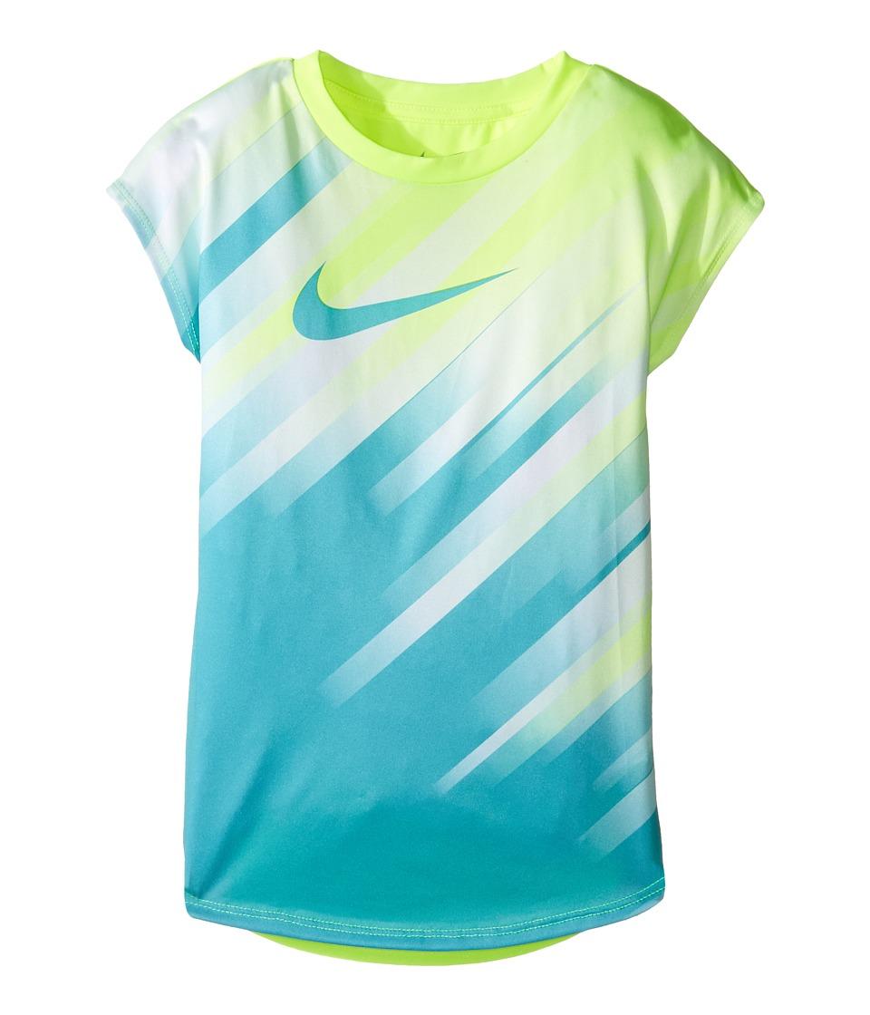 Nike Kids - Speed Line Dri-FIT Modern Tee (Little Kids) (Volt) Girl's T Shirt