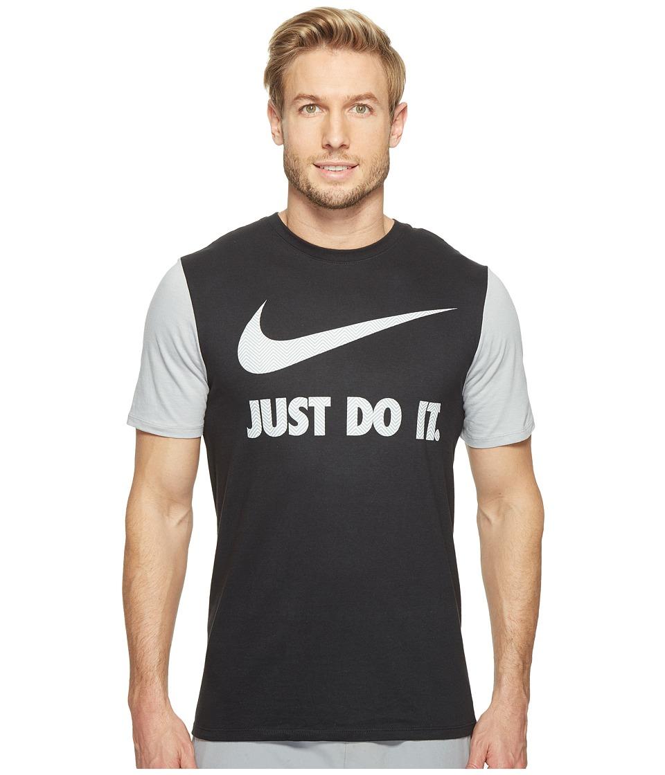 Nike - Sportswear Herringbone JDI Swoosh Tee (Black/Wolf Grey/Black/Wolf Grey) Men's T Shirt