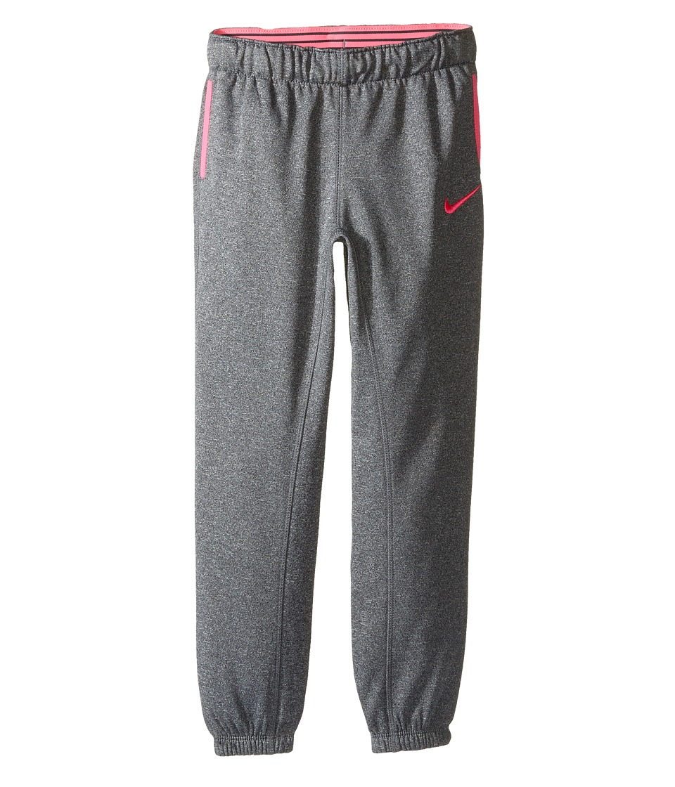 Nike Kids - Thermal Pants At Cuff (Little Kids) (Dark Grey Heather) Girl's Casual Pants