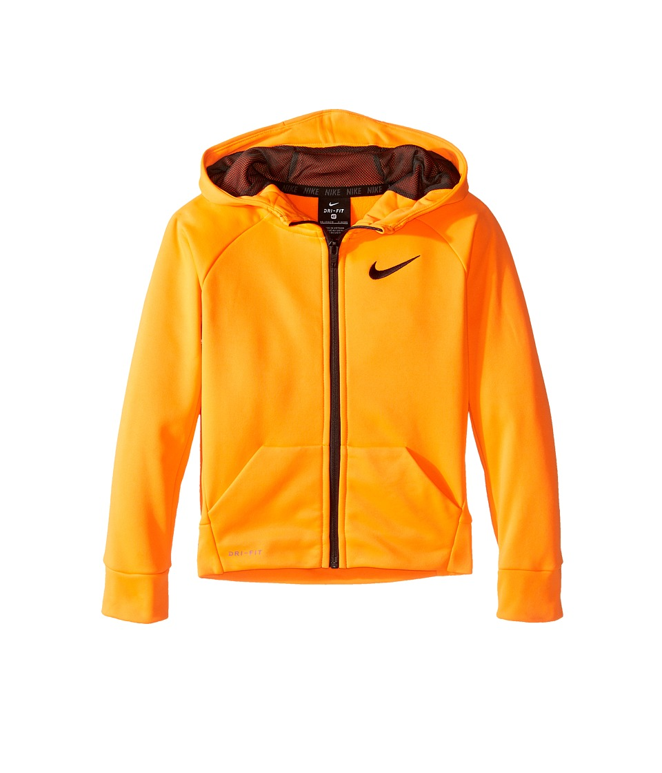 Nike Kids - Thermal Full Zip Hoodie (Toddler) (Total Orange) Boy's Sweatshirt