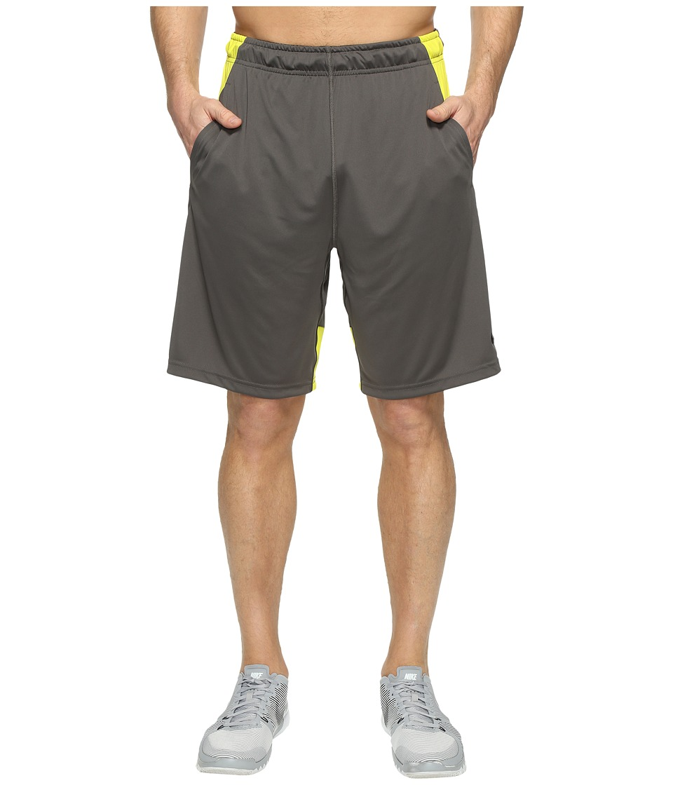Nike Dry 9 Training Short (Midnight Fog/Electrolime/Black) Men