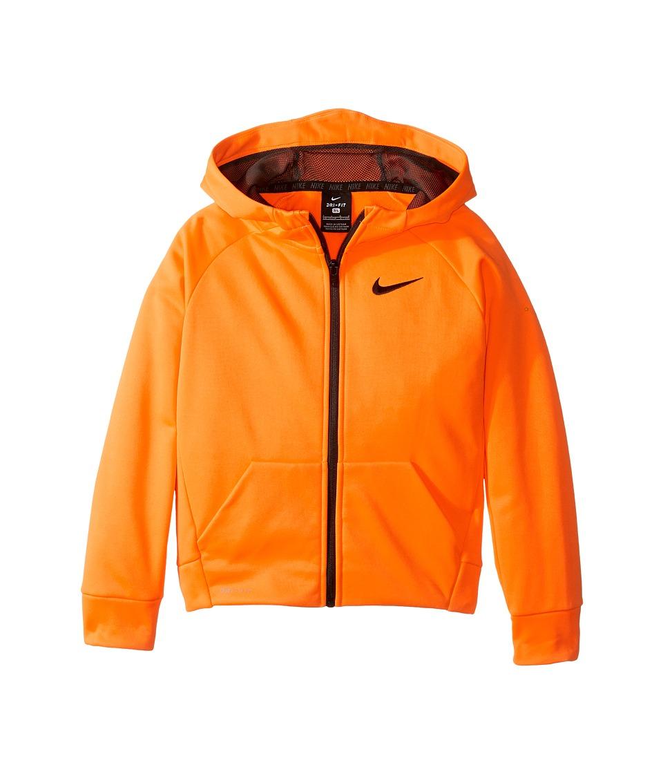 Nike Kids - Thermal Full Zip Hoodie (Little Kids) (Total Orange) Boy's Sweatshirt