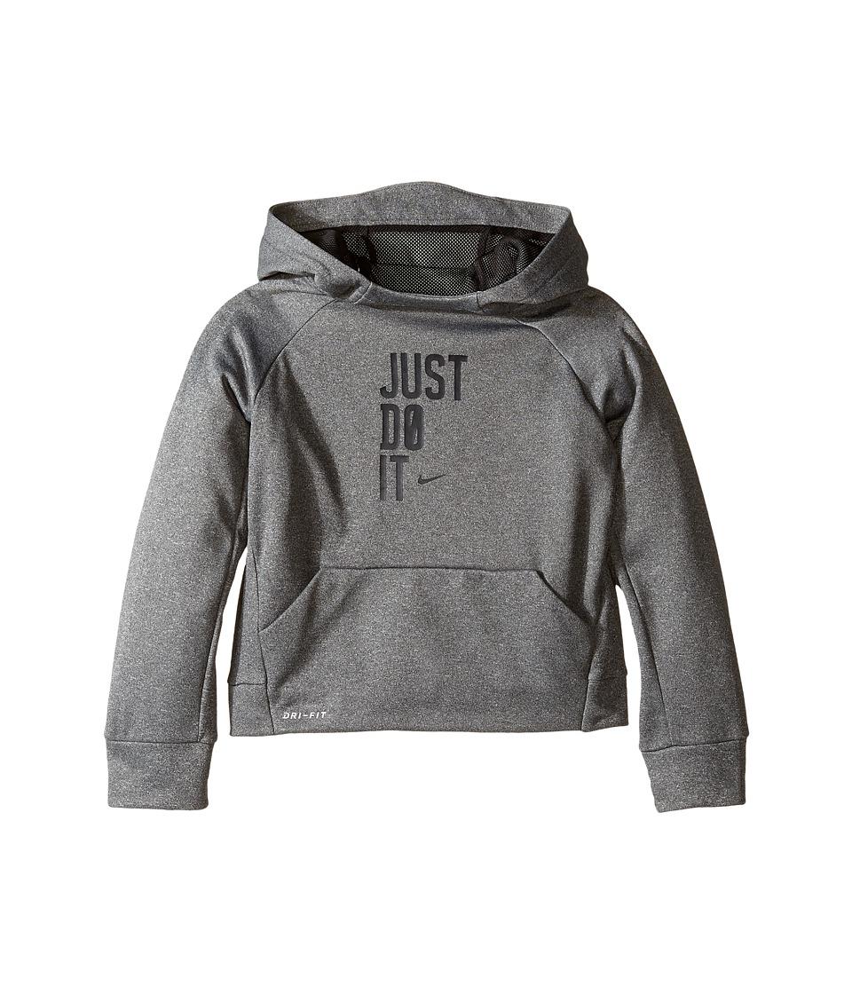 Nike Kids - Therma Pullover JDI Hoodie (Toddler) (Dark Grey Heather) Boy's Sweatshirt