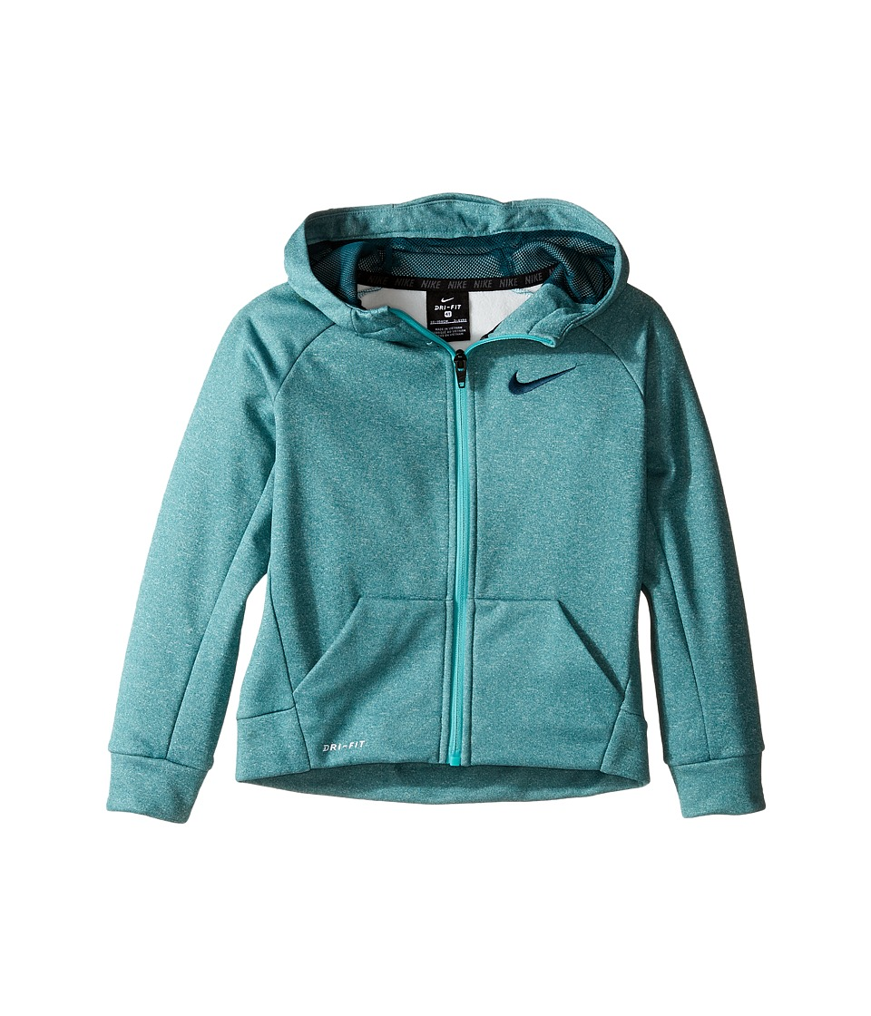 Nike Kids - Thermal Full Zip Hoodie (Toddler) (Rio Teal Heather) Boy's Sweatshirt