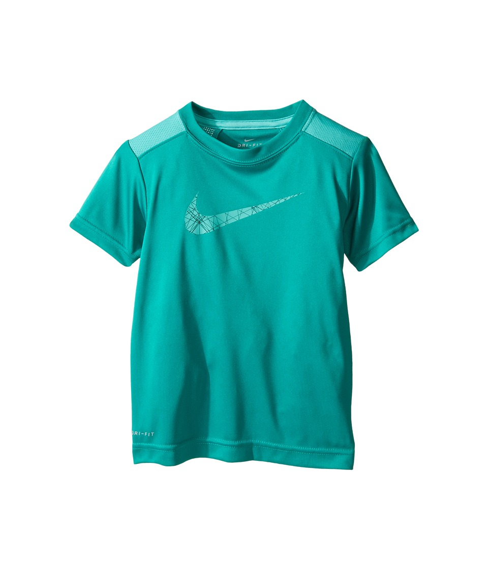Nike Kids - Legacy GFX Short Sleeve Top (Toddler) (Rio Teal) Boy's Short Sleeve Pullover