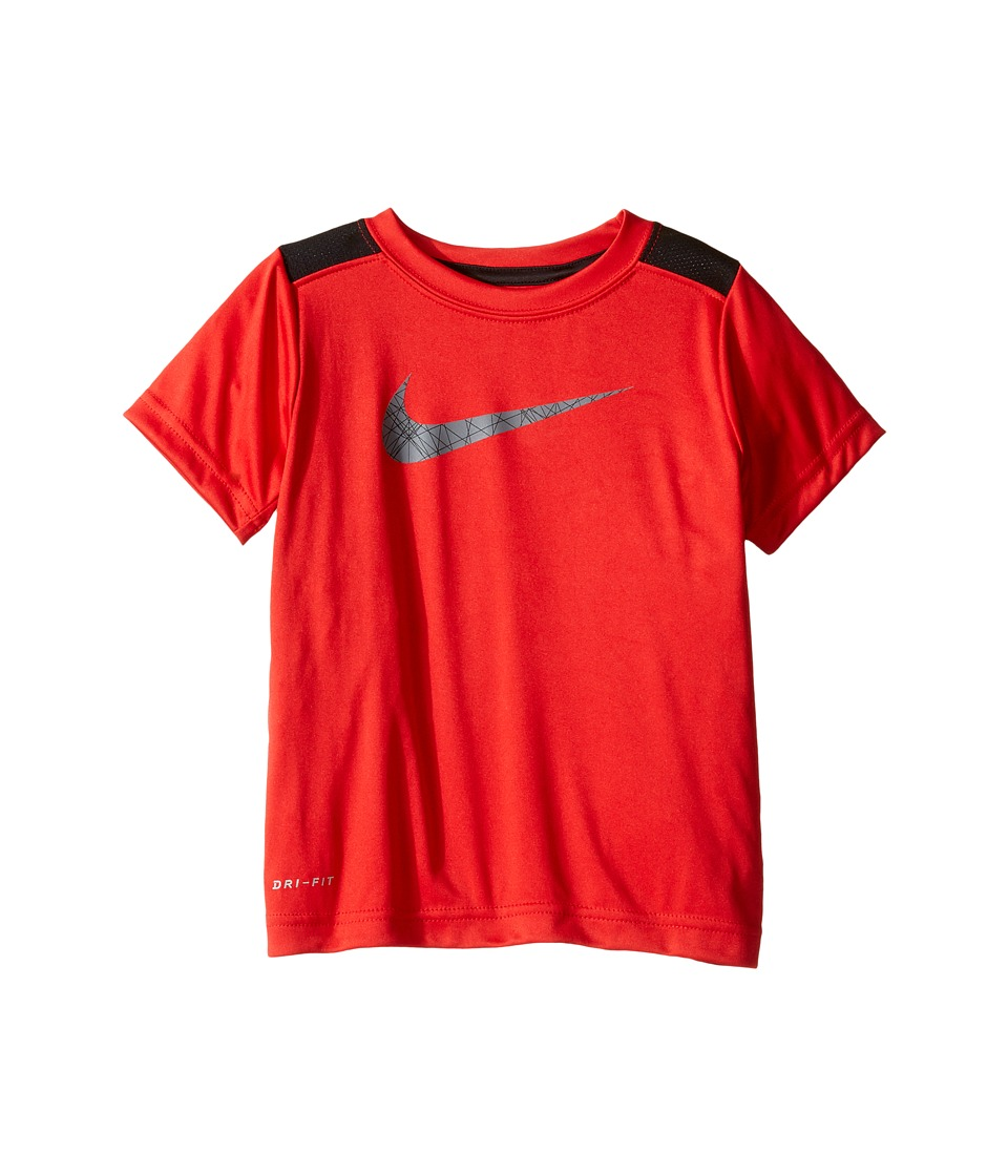 Nike Kids - Legacy GFX Short Sleeve Top (Toddler) (Black/University Red) Boy's Short Sleeve Pullover