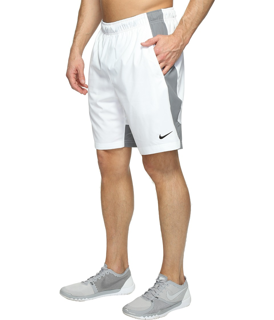 Nike - Flex Woven Training Short (White/Cool Grey/Black) Men's Shorts