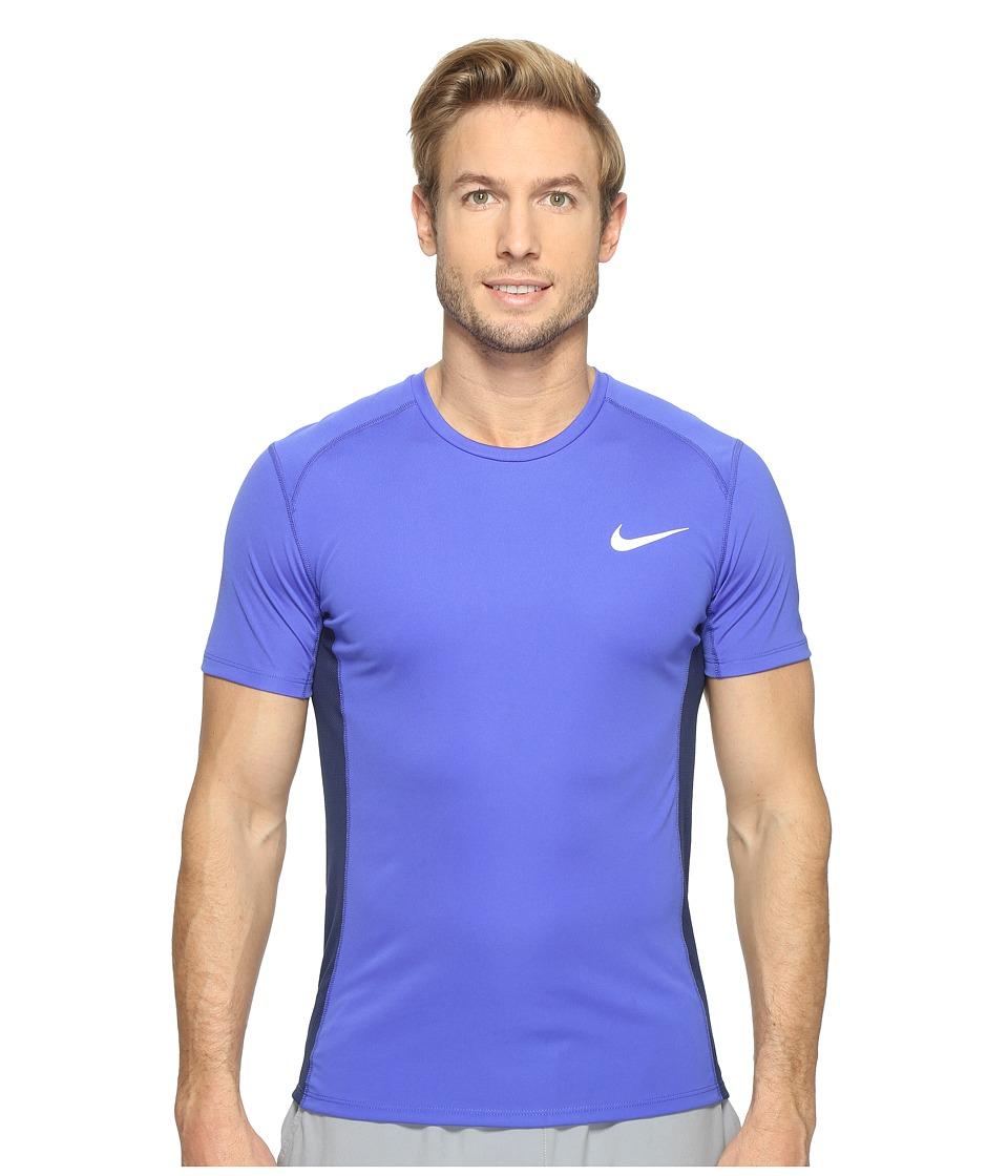 Nike - Dry Miler Short Sleeve Running Top (Paramount Blue/Binary Blue) Men's Clothing