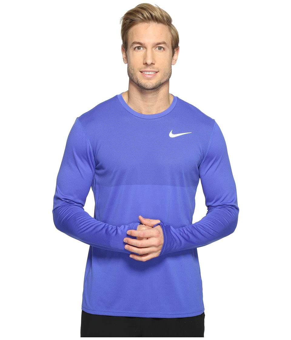 Nike - Zonal Cooling Relay Long Sleeve Running Top (Paramount Blue/Reflective Silver) Men's Clothing