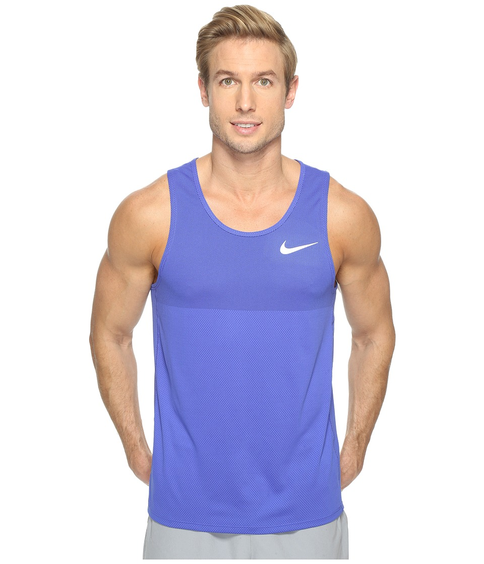 Nike - Zonal Cooling Relay Running Tank (Paramount Blue/Reflective Silver) Men's Sleeveless