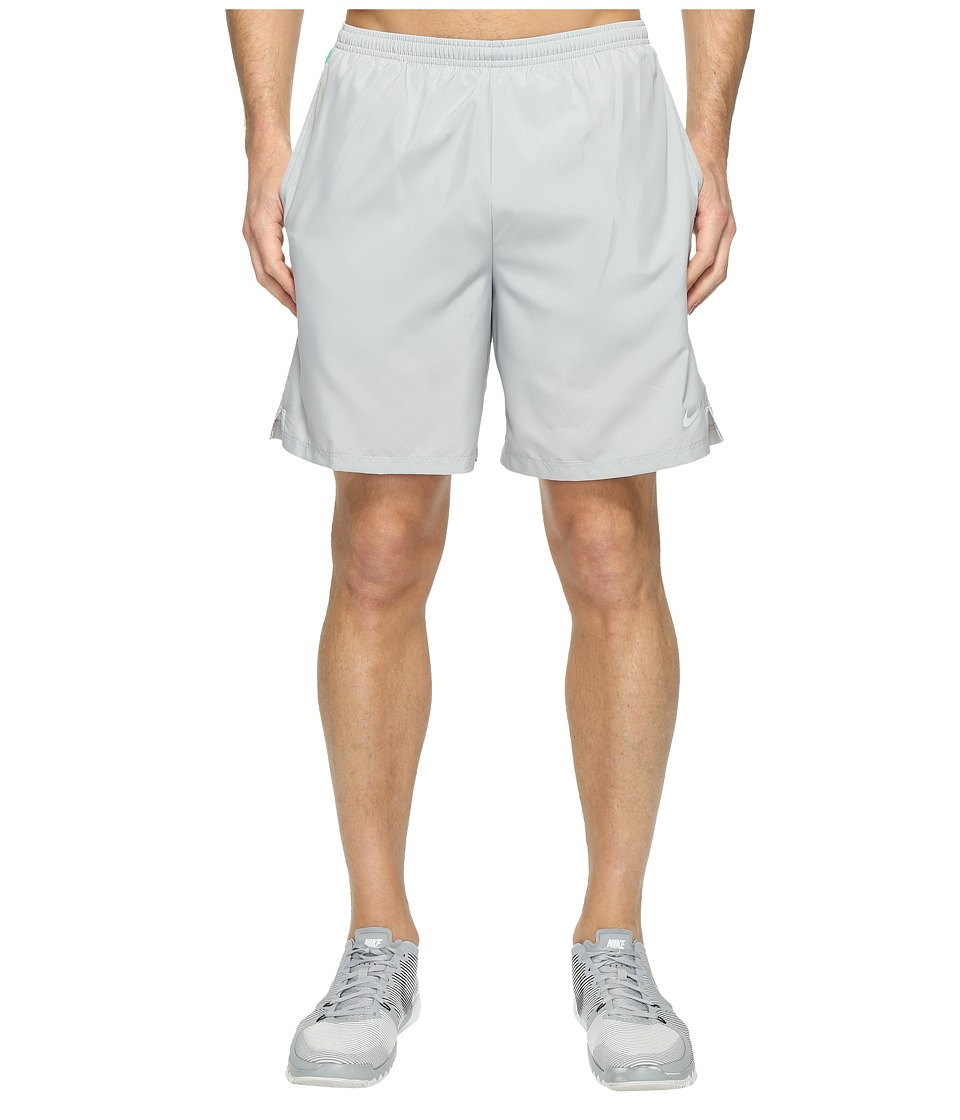 Nike - 7 Challenger Short (Flint Silver/Stadium Green/Reflective Silver) Men's Shorts