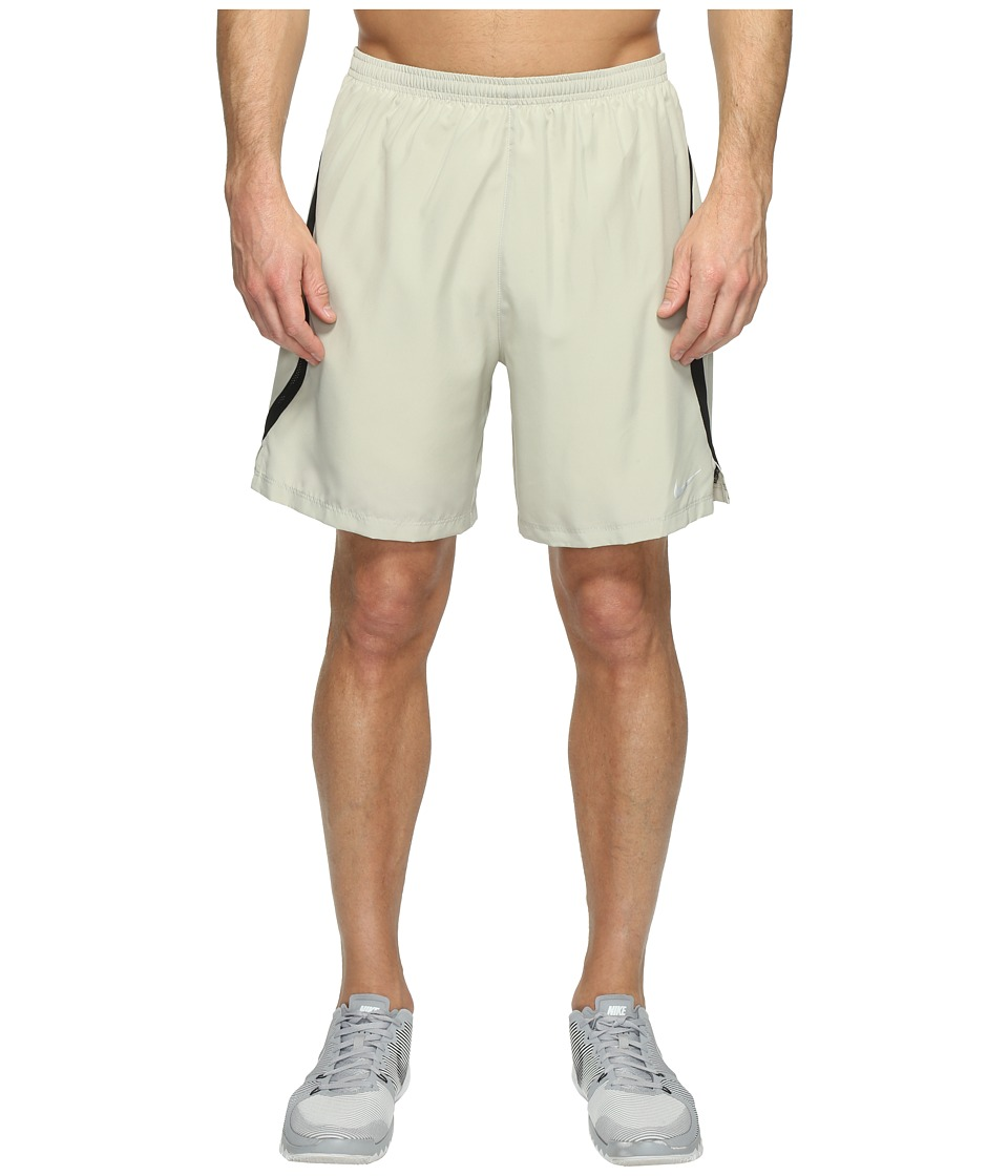 Nike - Dry Challenger 7 2-in-1 Running Short (Pale Grey/Black/Reflective Silver) Men's Shorts