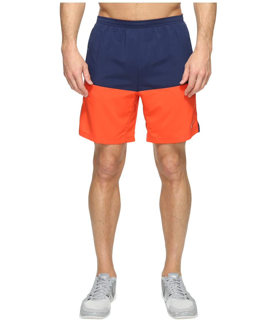 Nike - 7 Distance Running Short (Binary Blue/Max Orange/Reflective Silver) Men's Shorts