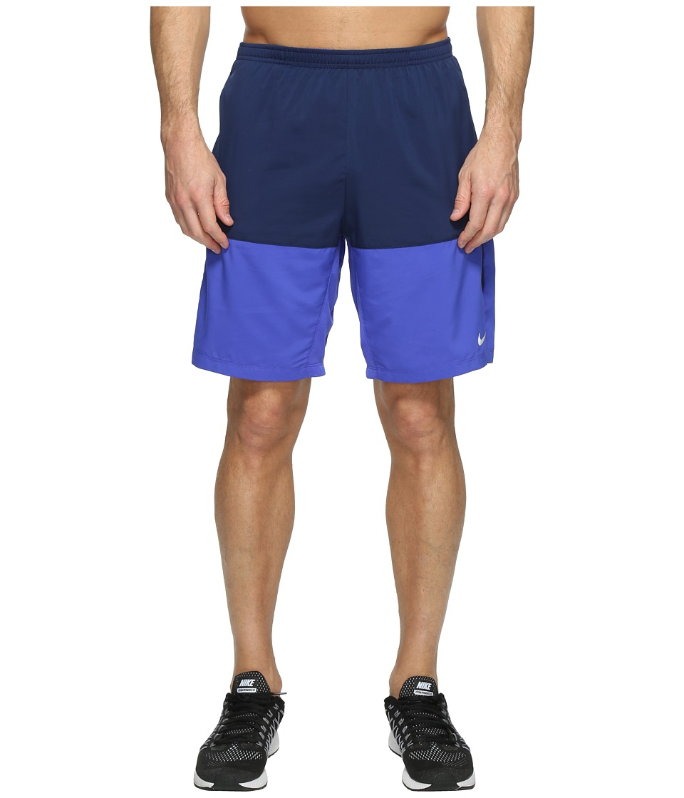 Nike - 9 Distance Running Short (Binary Blue/Reflective Silver) Men's Shorts