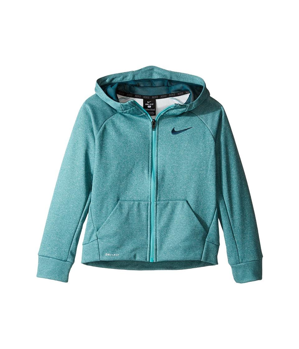 Nike Kids - Thermal Full Zip Hoodie (Little Kids) (Rio Teal Heather) Boy's Sweatshirt