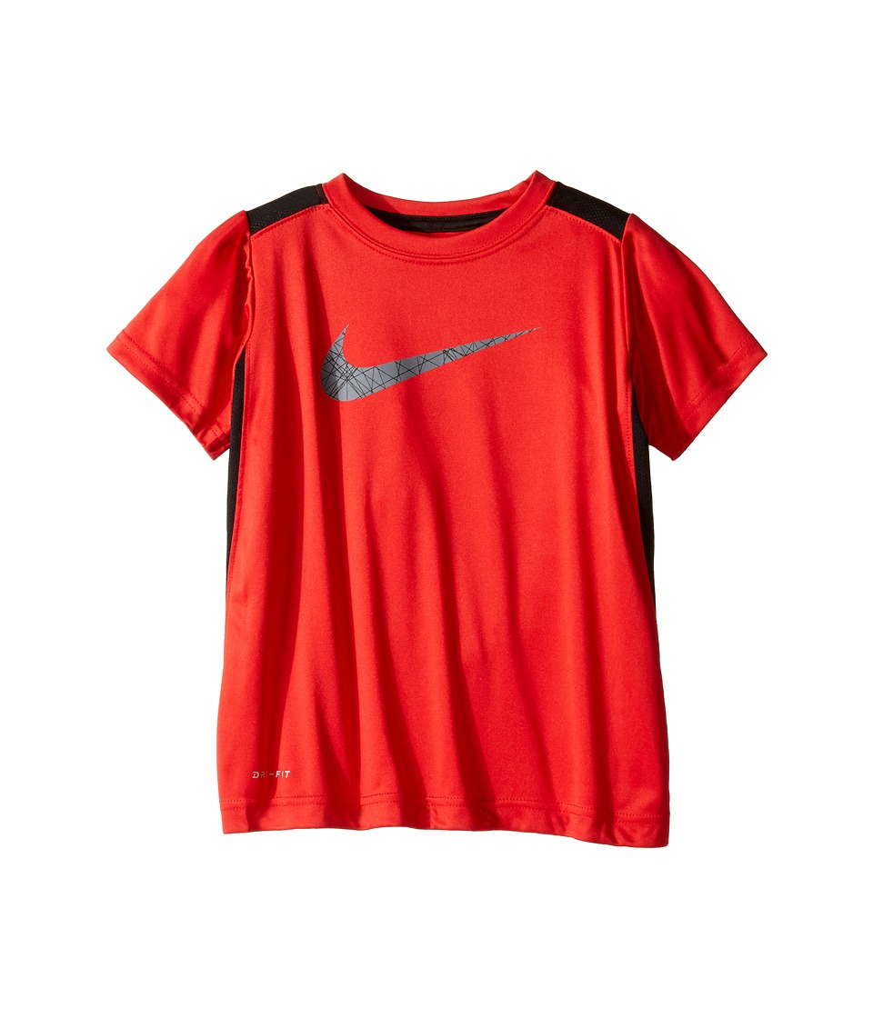 Nike Kids - Legacy GFX Short Sleeve Top (Little Kids) (Black/University Red) Boy's Short Sleeve Pullover