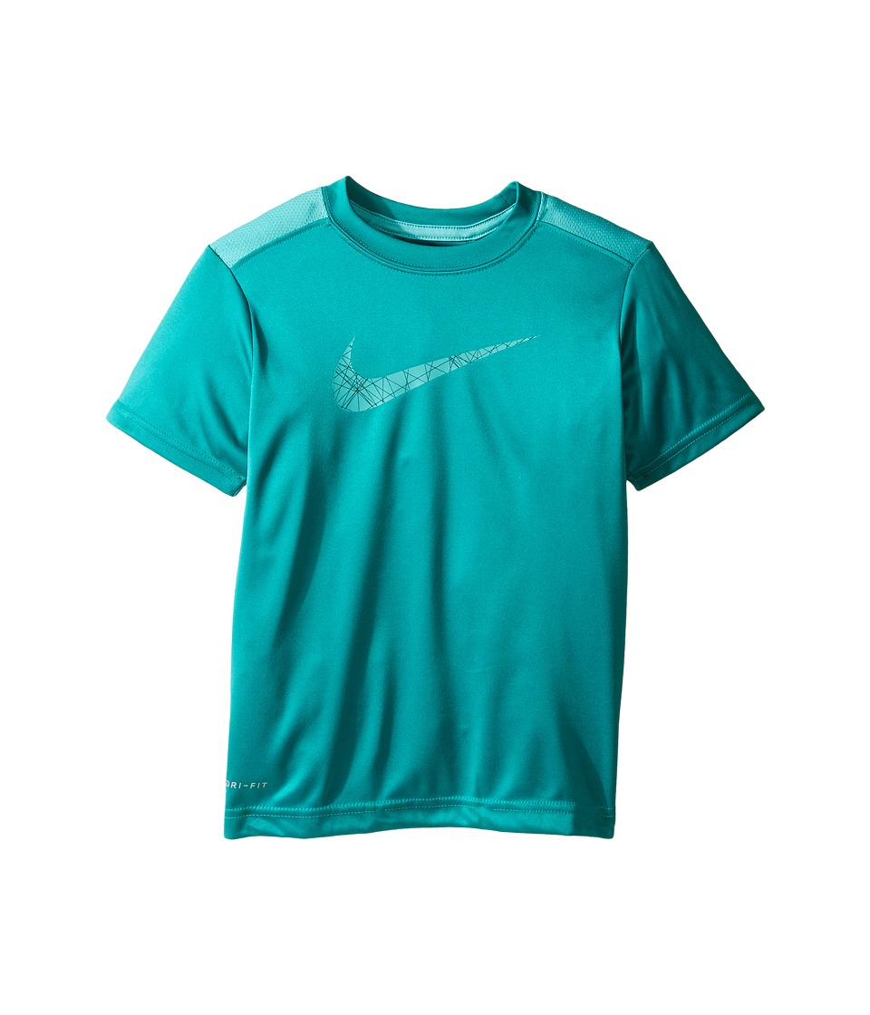 Nike Kids - Legacy GFX Short Sleeve Top (Little Kids) (Rio Teal) Boy's Short Sleeve Pullover