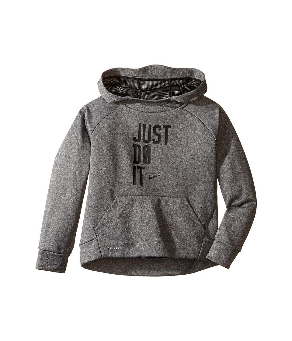 Nike Kids - Therma Pullover JDI Hoodie (Little Kids) (Dark Grey Heather) Boy's Sweatshirt