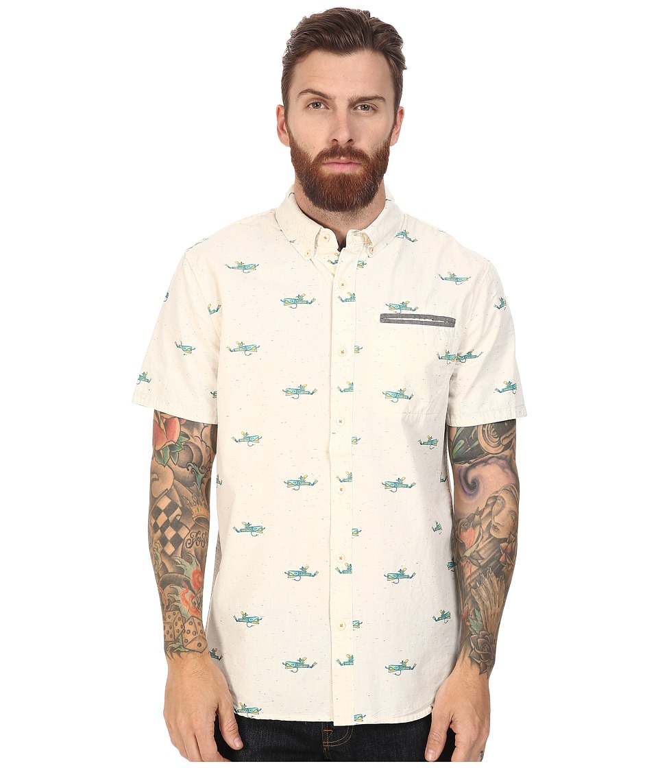 Roark - Kook Hook Short Sleeve Woven (White) Men's Clothing