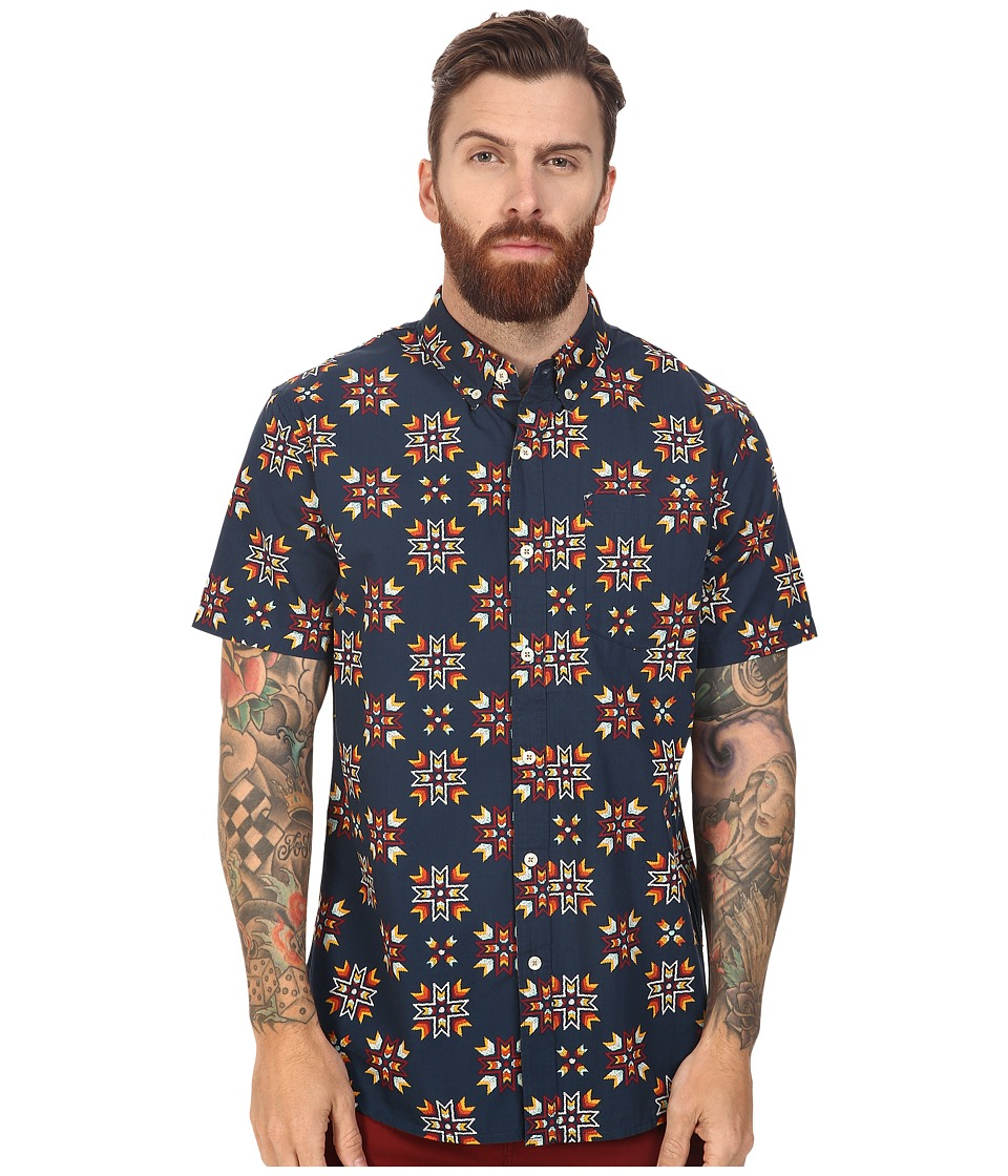 Roark - First Nation Short Sleeve Woven (Navy) Men's Clothing