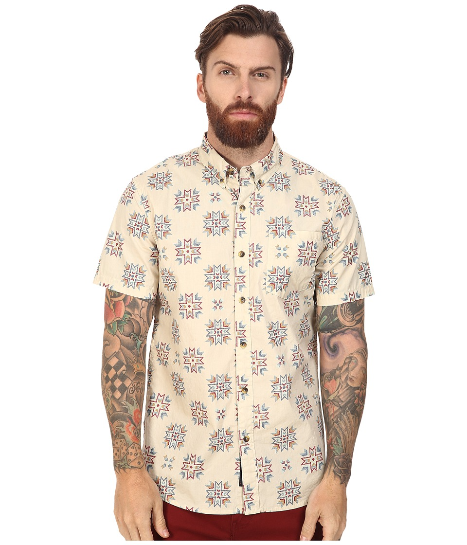 Roark - First Nation Short Sleeve Woven (Natural) Men's Clothing