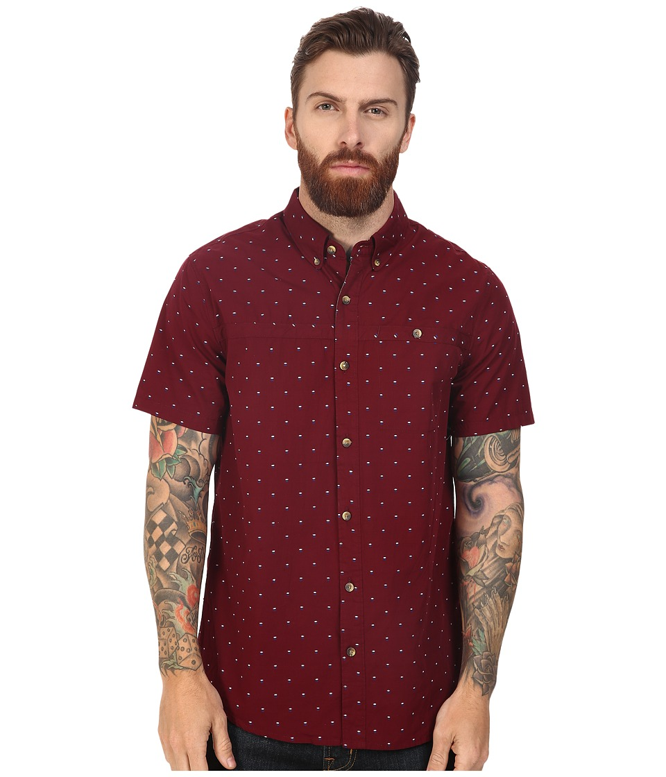 Roark - Captain Rycam Short Sleeve Woven (Burgundy) Men's Clothing