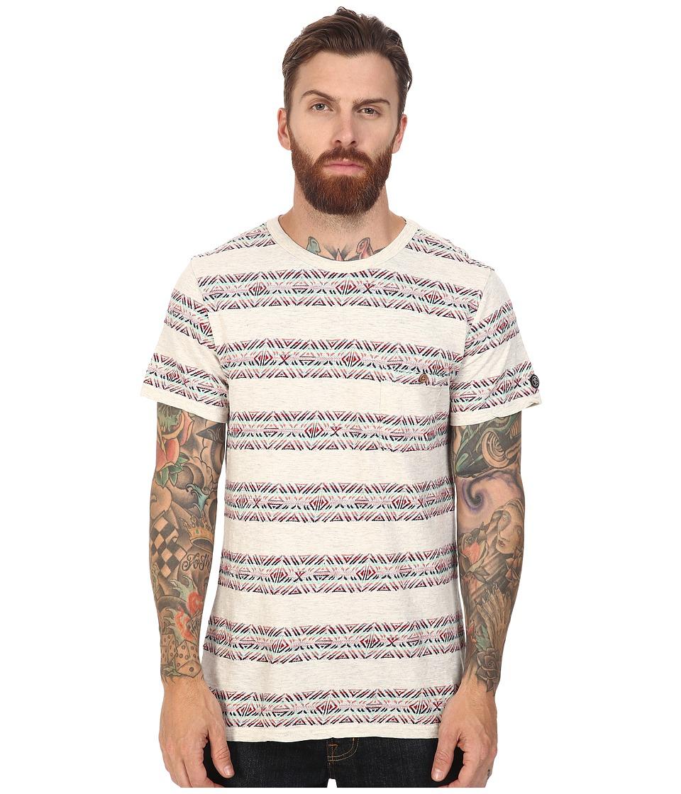 Roark - Haida Jaquard Short Sleeve Knit (Natural) Men's Short Sleeve Knit