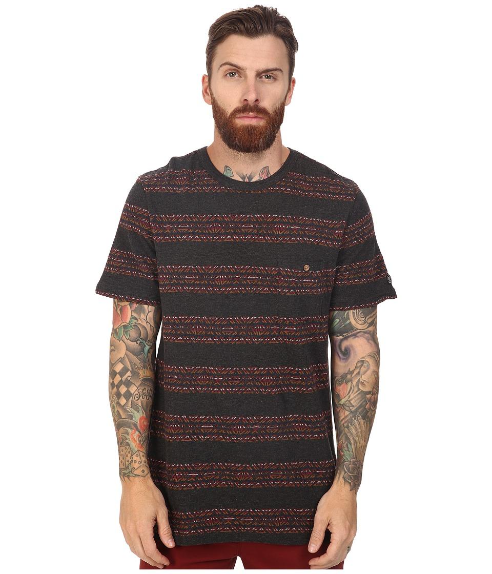 Roark - Haida Jaquard Short Sleeve Knit (Black) Men's Short Sleeve Knit