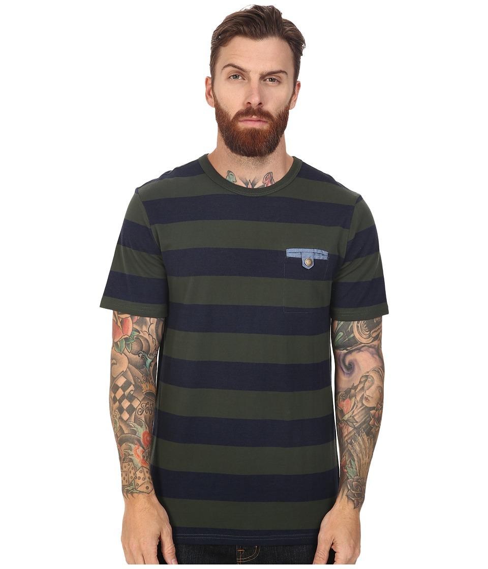 Roark - Shelter Short Sleeve Knit (Army) Men's Short Sleeve Knit