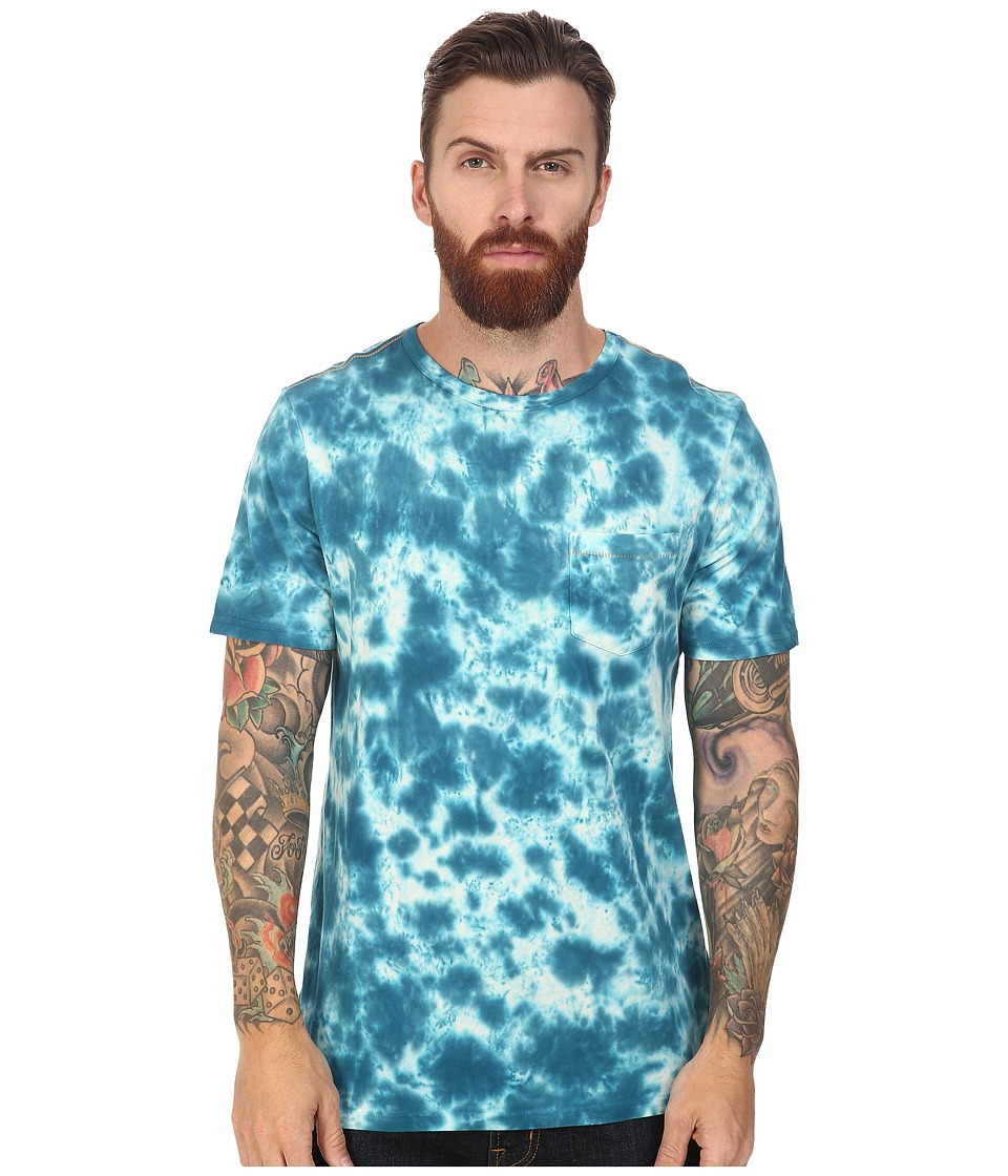 Roark - Well Worn Laundered Pocket Tee (Blue) Men's T Shirt