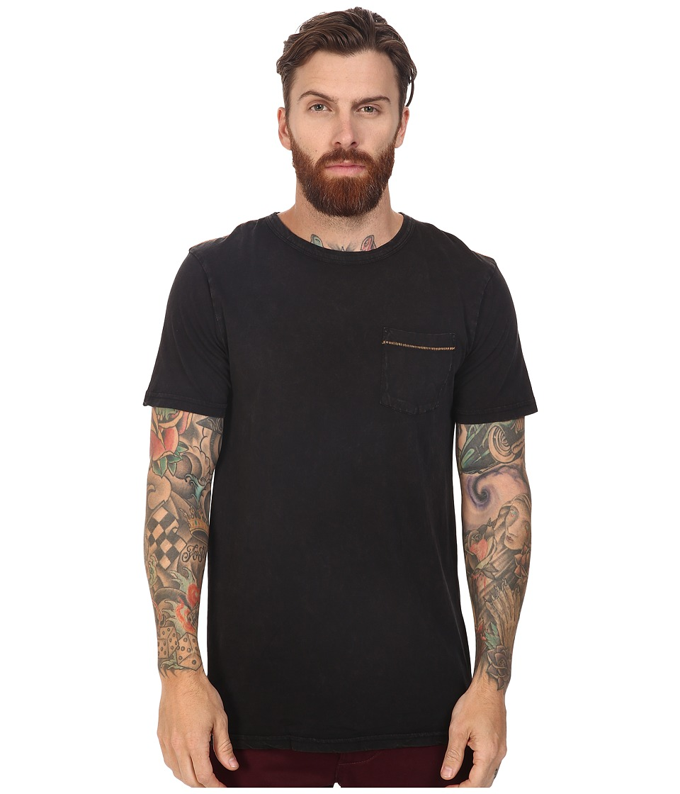 Roark - Well Worn Laundered Pocket Tee (Black) Men's T Shirt