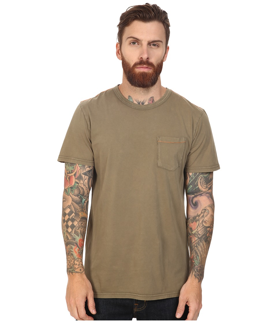 Roark - Well Worn Laundered Pocket Tee (Army) Men's T Shirt