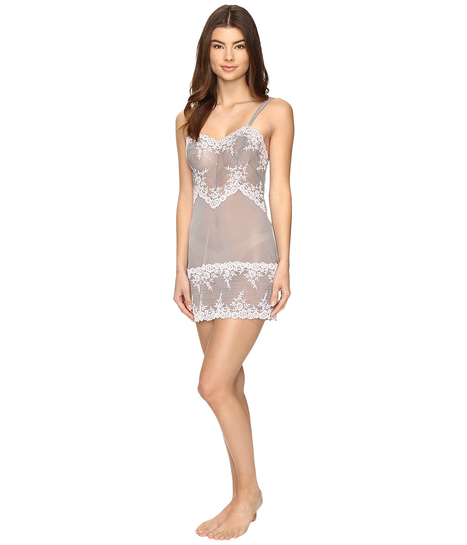 Wacoal - Embrace Lace Chemise (Frost Gray/Primrose) Women's Lingerie