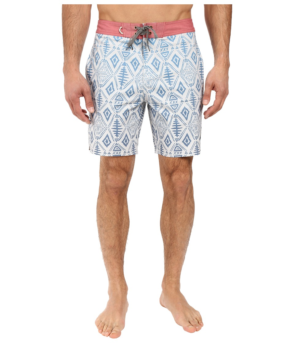 Roark - Fishy Boardshorts (Natural) Men's Swimwear
