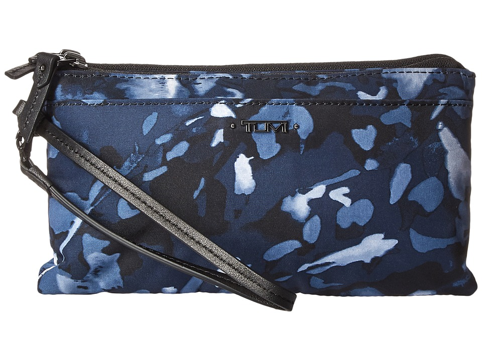 Tumi - Voyageur Double-Zip Wallet (Indigo Floral) Wallet Handbags