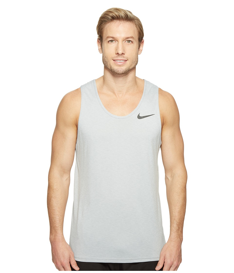 Nike - Breathe Training Tank (White/Off-White/Black) Men's Sleeveless