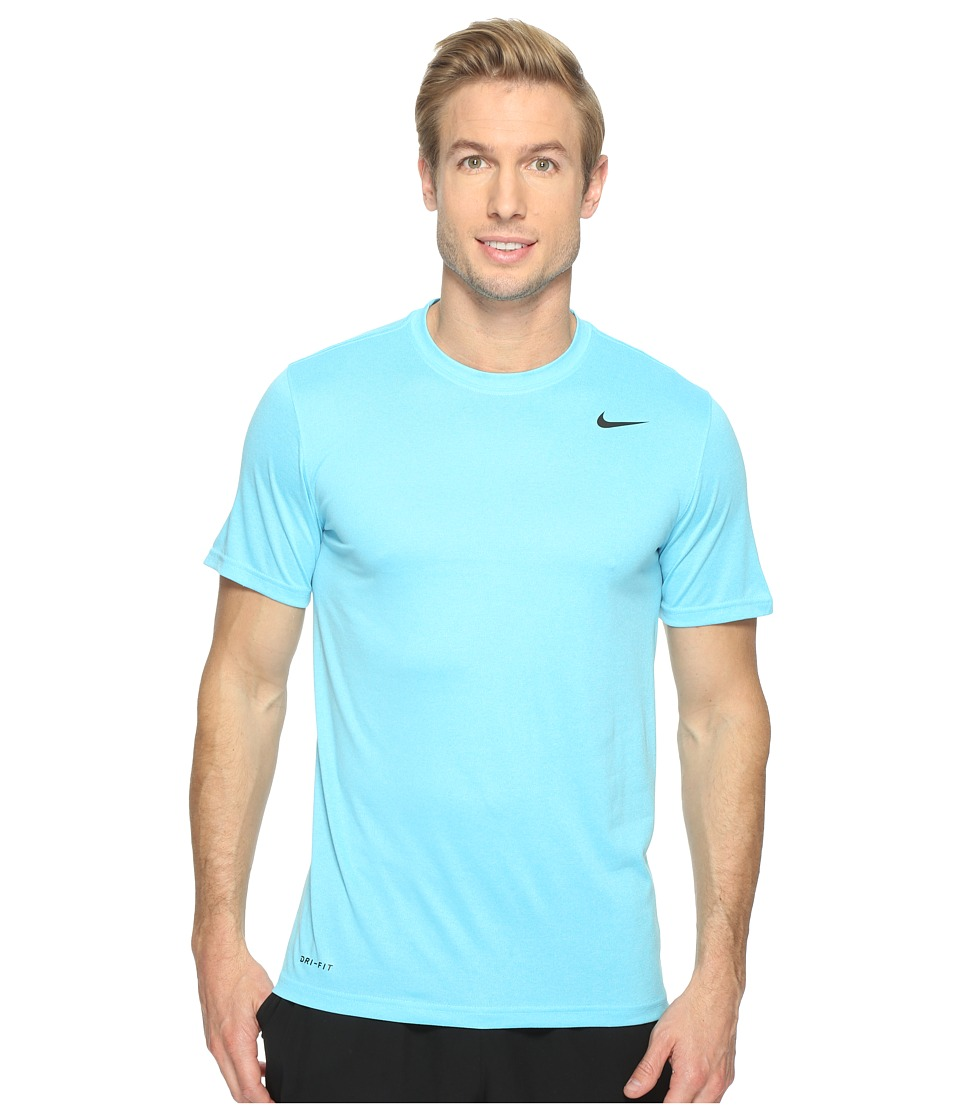 Nike - Legend 2.0 Short Sleeve Tee (Vivid Sky/Still Blue/Black) Men's T Shirt