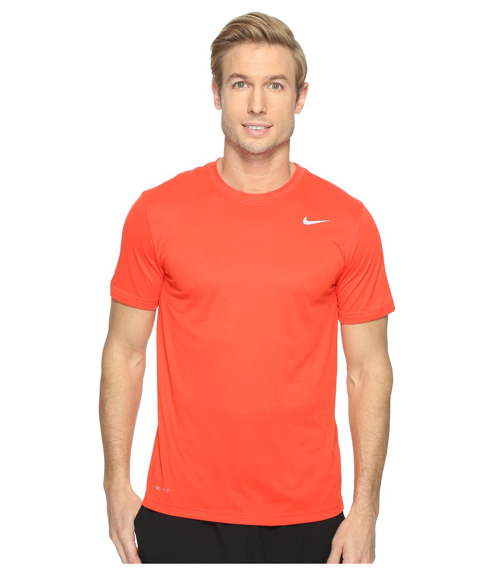 Nike Legend 2.0 Short Sleeve Tee (Max Orange/Matte Silver) Men