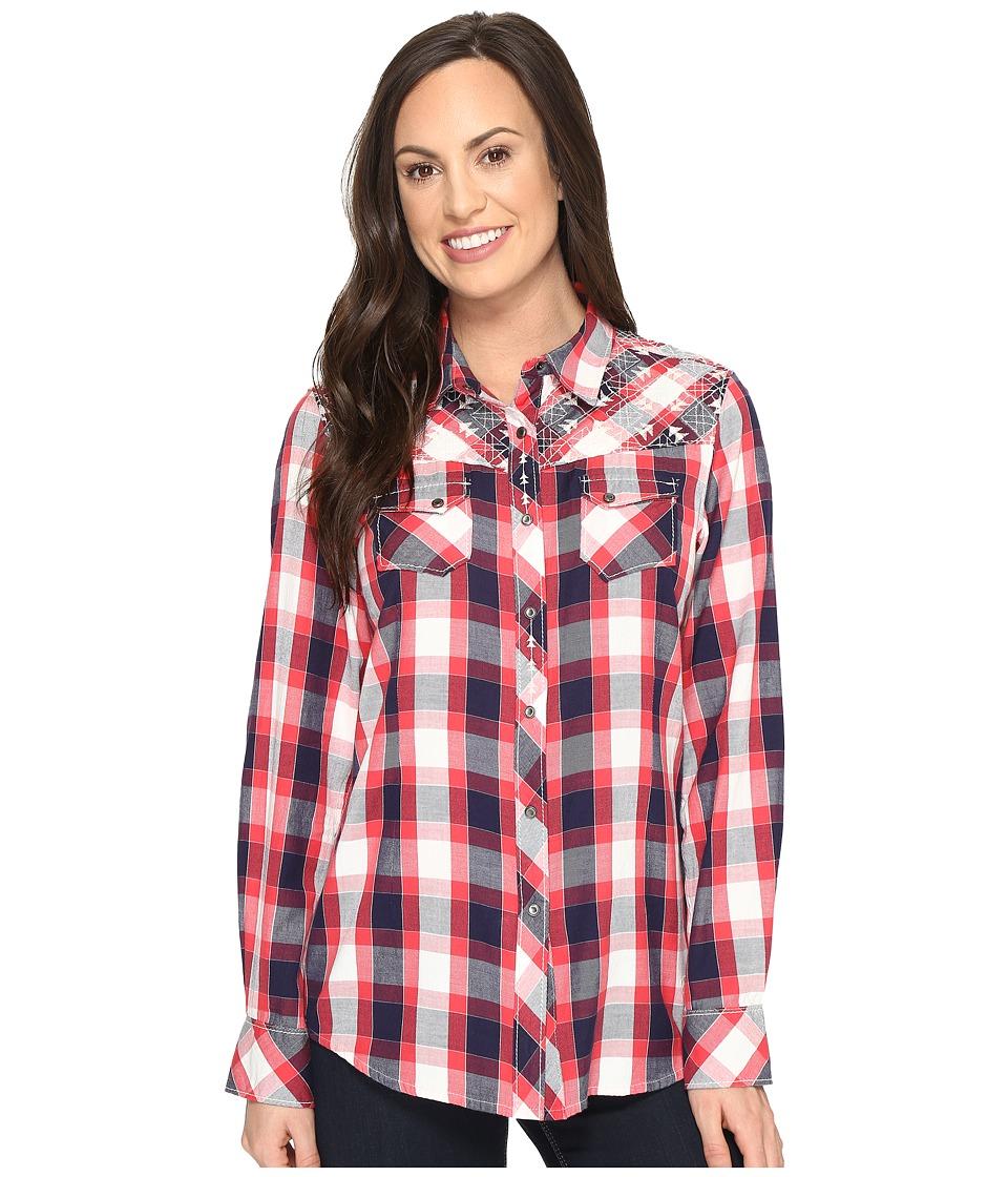 Ariat - Journey Snap Shirt (Plaid) Women's Long Sleeve Button Up