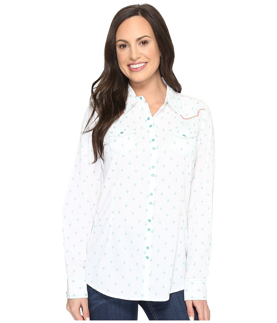 Ariat Grand Snap Shirt (White Multi) Women