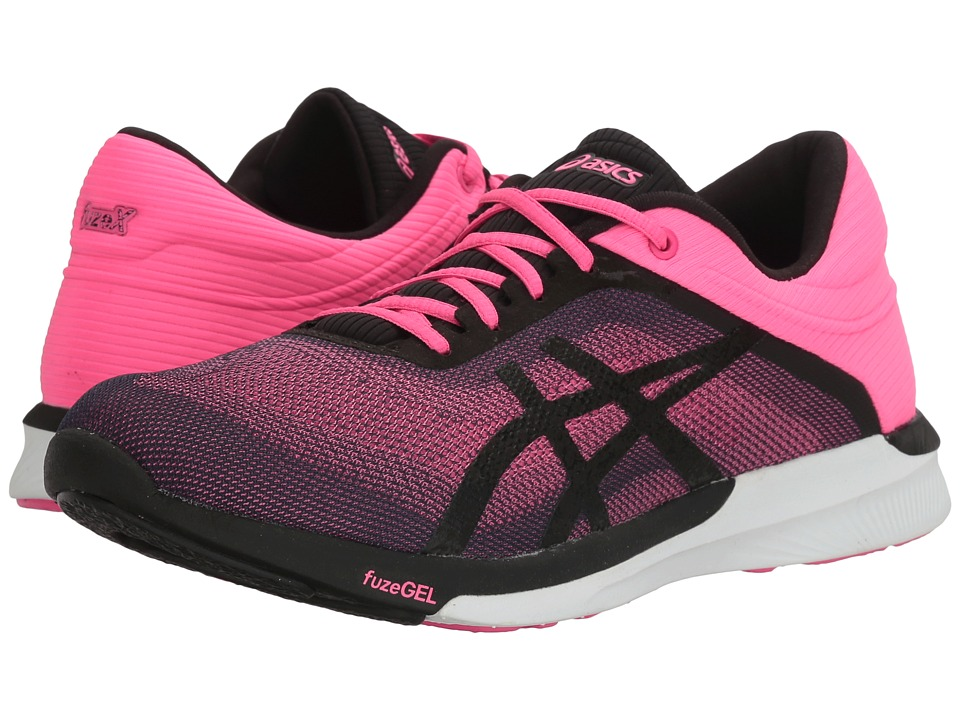 ASICS - FuzeX Rush (Hot Pink/Black/White) Women's Running Shoes