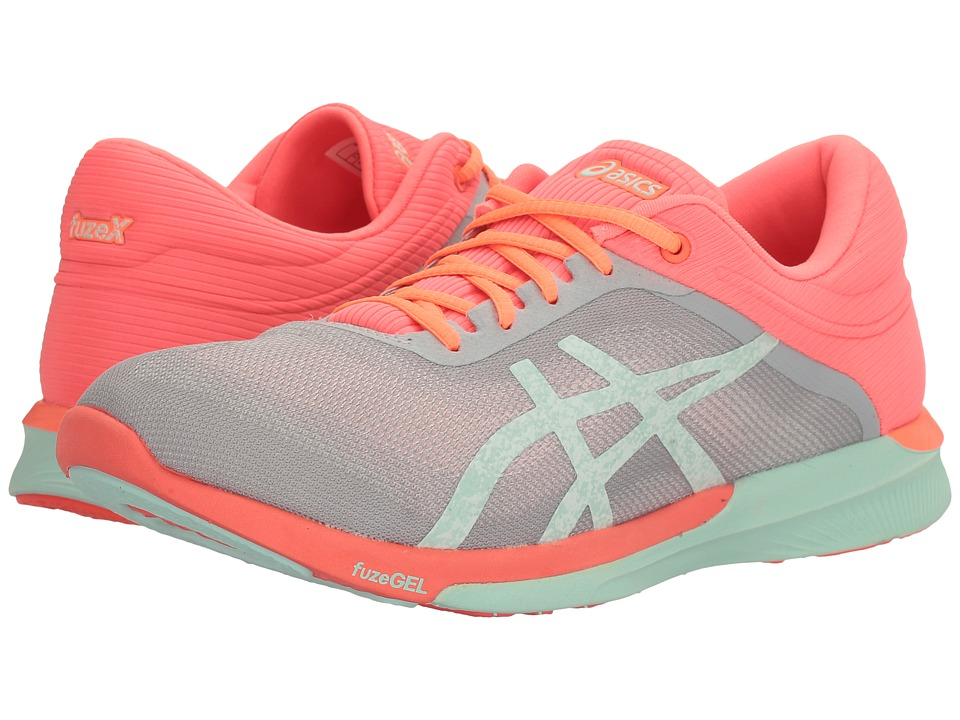 ASICS - FuzeX Rush (Mid Grey/Bay/Flash Coral) Women's Running Shoes