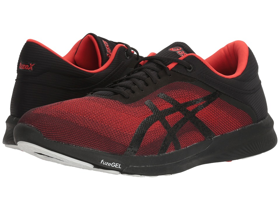 ASICS - FuzeX Rush (Vermillion/Black/White) Men's Running Shoes