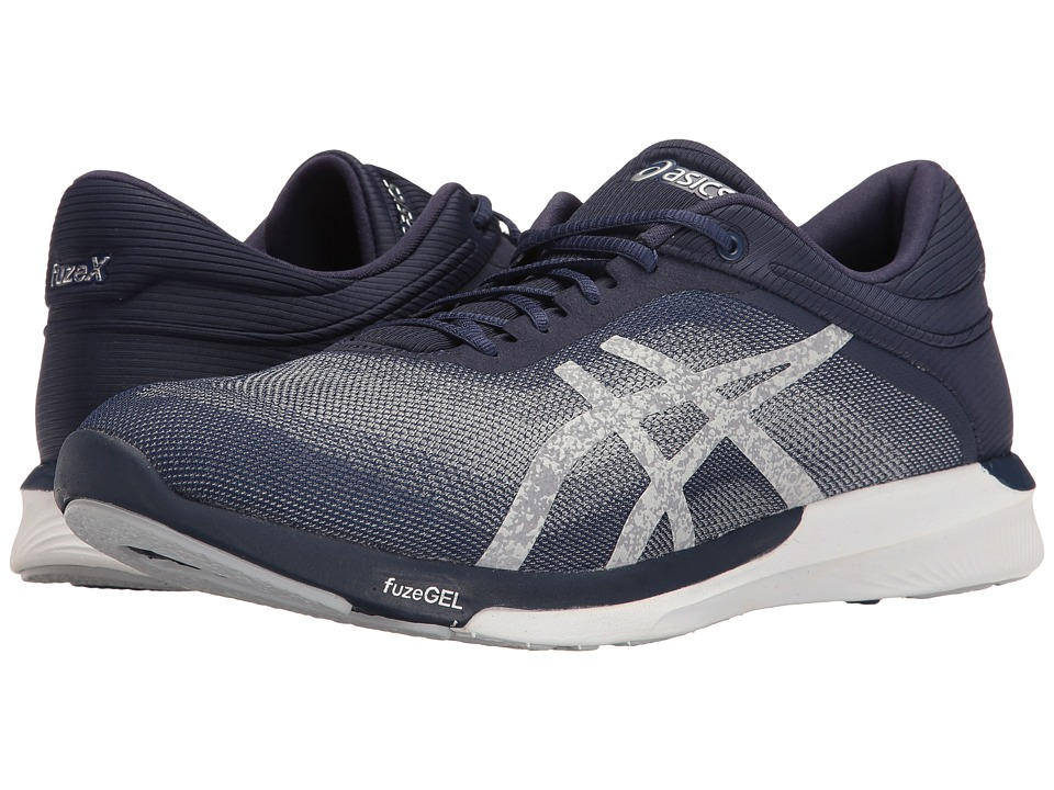 ASICS - FuzeX Rush (Indigo Blue/Silver/White) Men's Running Shoes