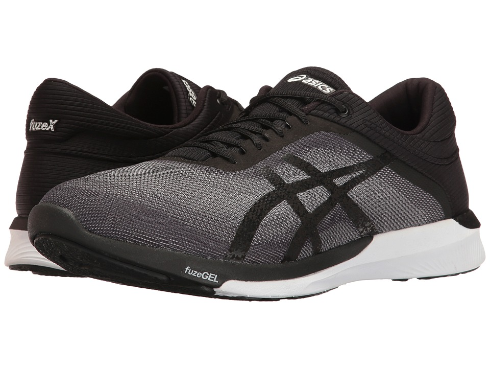 ASICS - FuzeX Rush (Mid Grey/Black/White) Men's Running Shoes