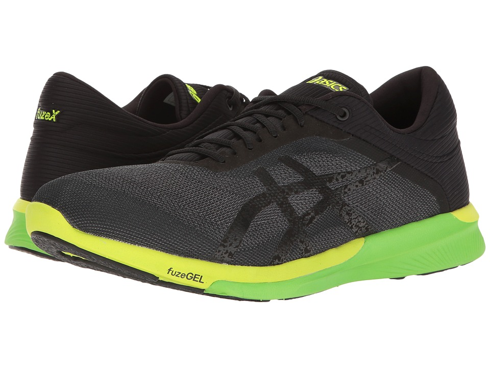 ASICS - FuzeX Rush (Carbon/Black/Safety Yellow) Men's Running Shoes