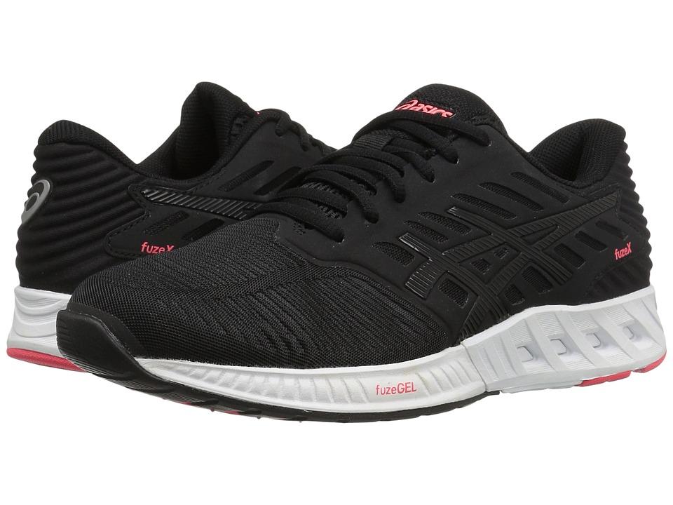 ASICS - FuzeXtm (Black/Black/Diva Pink) Women's Running Shoes