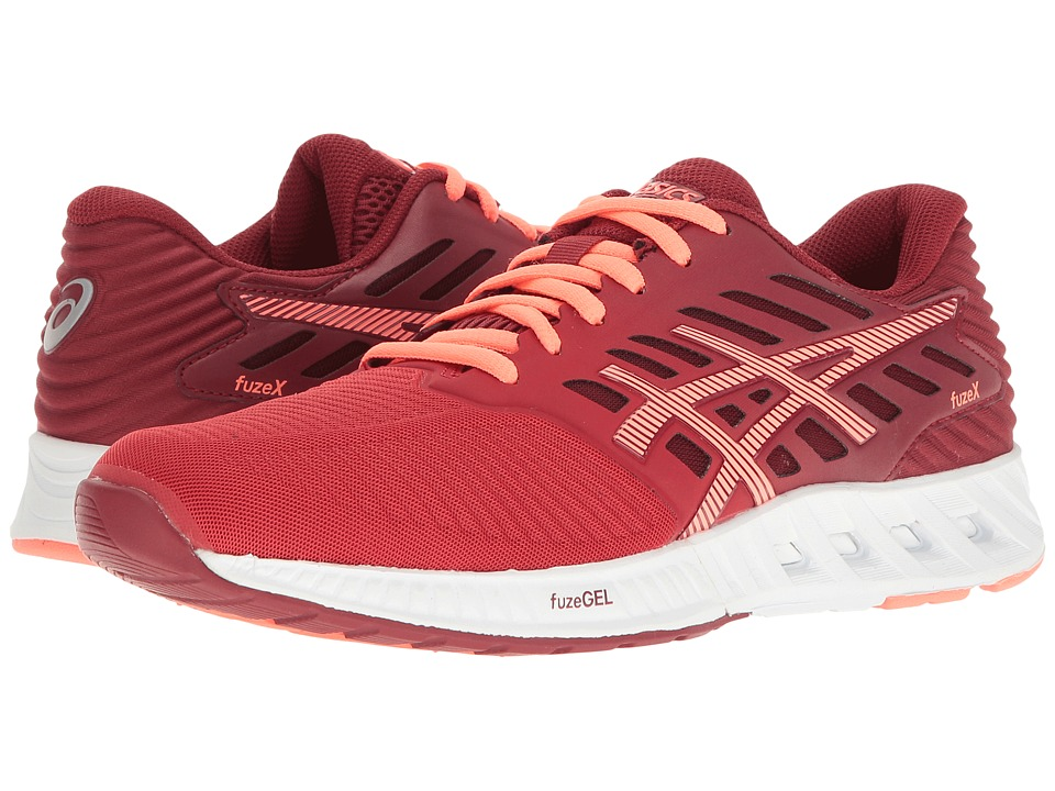 ASICS - FuzeXtm (OT Red/Flash Coral/True Red) Women's Running Shoes
