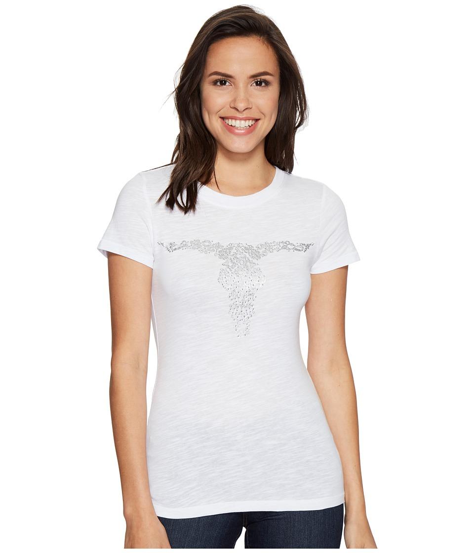 Ariat - Gem Skull Tee (White) Women's T Shirt